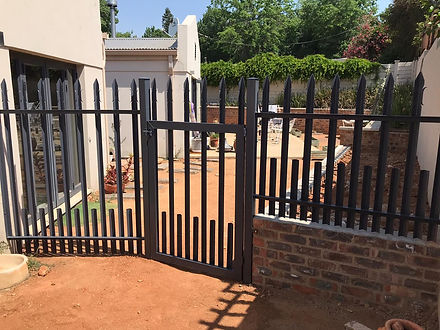 Palisade Fencing and Gate