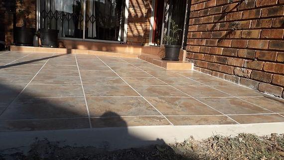 Patio tiling