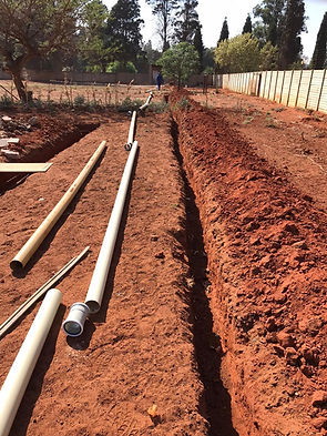 Sewer pipes ready for laying