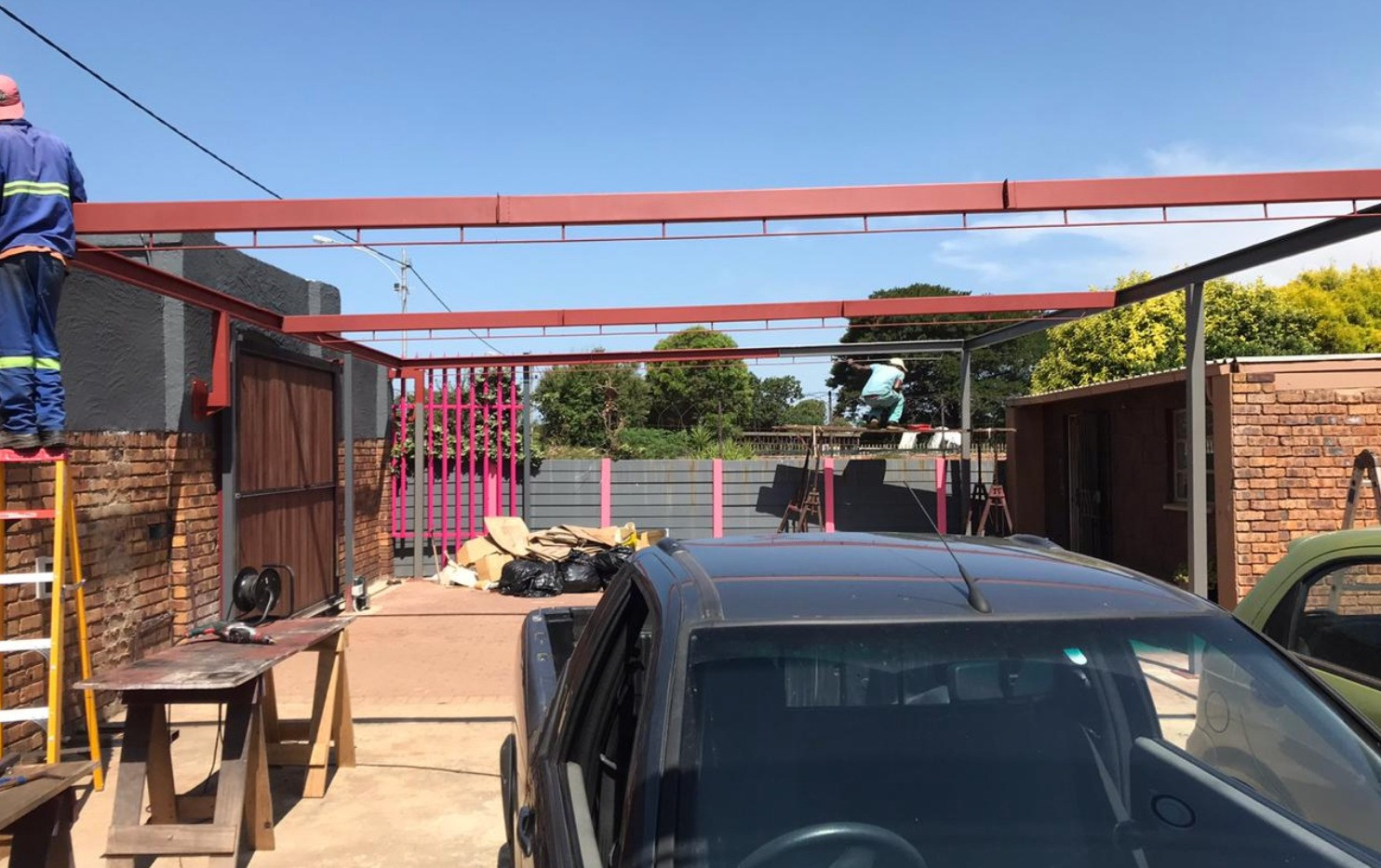 Wide span Carport