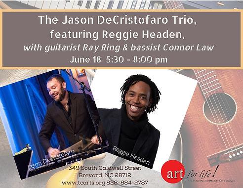 The Jason DeCristofaro Trio June 18 Post