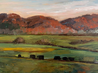 Maureen Chapman Trees and Mountains (Oil