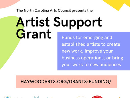 Applications Open for NC Artist Support Grant