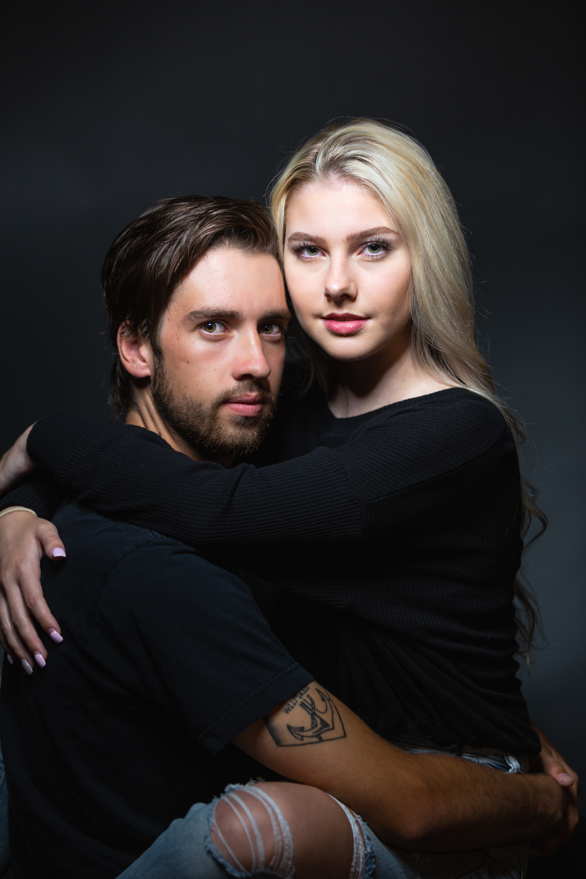 Couple's studio portrait photography