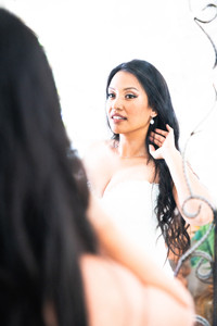 Bride mirror image
