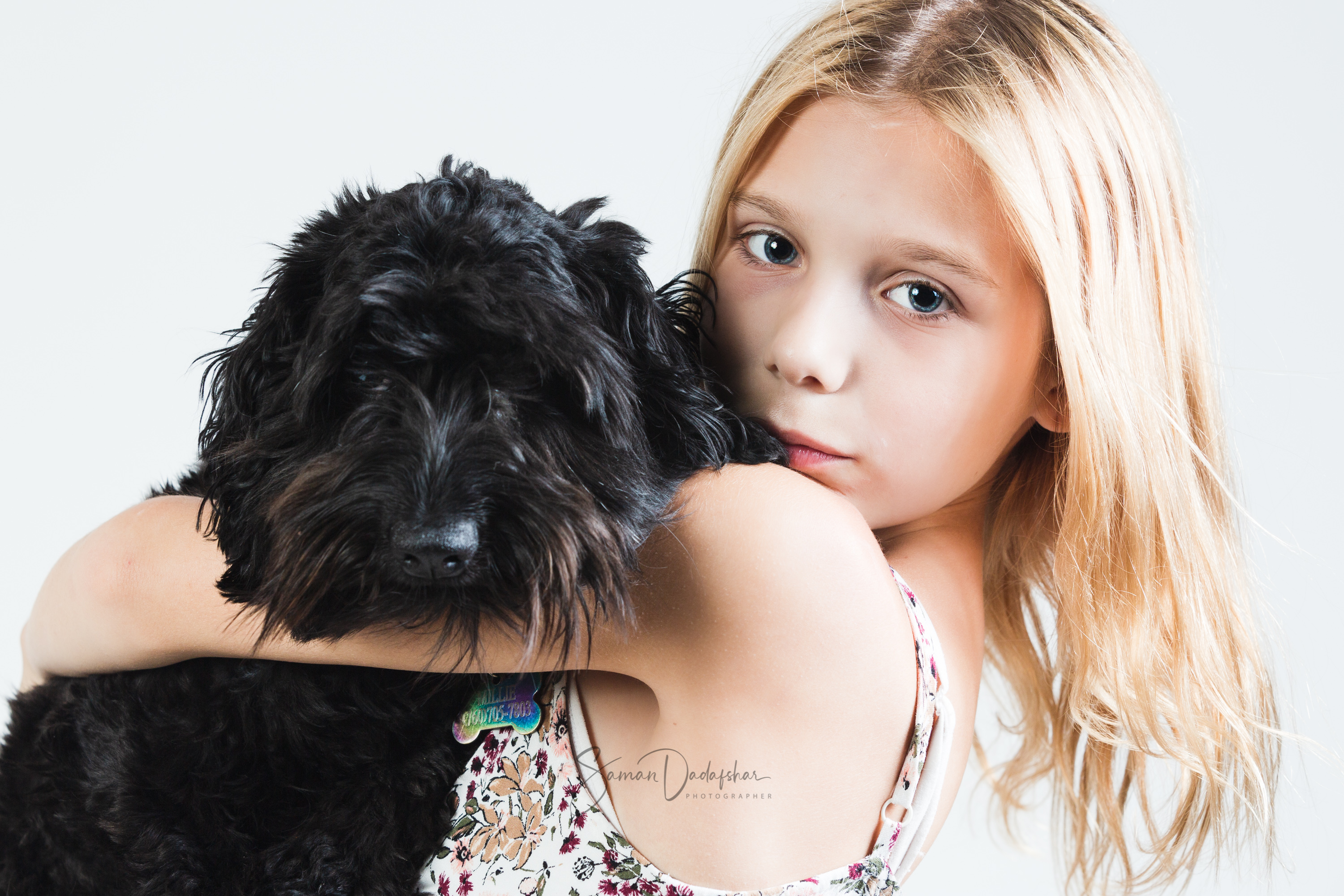 Teenager and her Puppy Studio Portrait Session