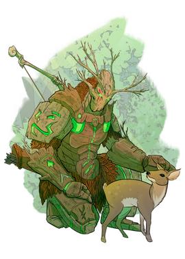 Warforged Druid