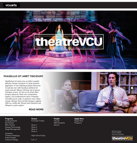 TheatreVCU wireframe 1