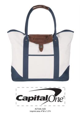 Capital One Embossed Bag