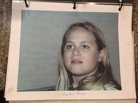 Photo of my oldest daughter at age 10 or 11