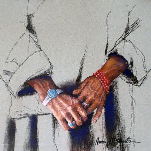 Tibetan Hands Giclee Print Large
