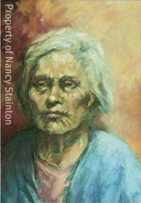 Pastel Portrait of older woman
