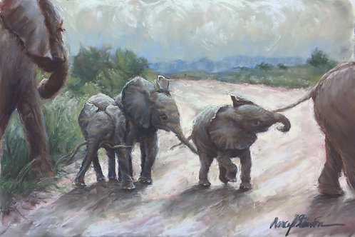 Pachyderm Playtime Note Cards