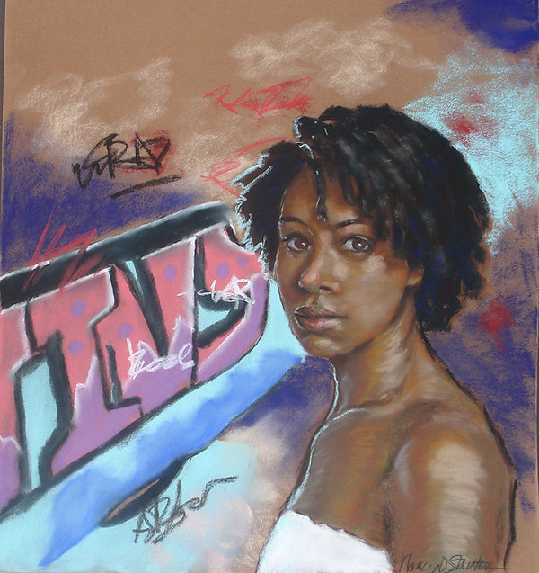 Hope In the Hood. This is an image of an African American woman who came from poverty and rose to fame. It is a story of hope an inspiration