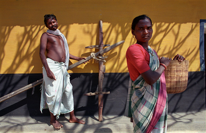 Santhal tribe people, 1995.