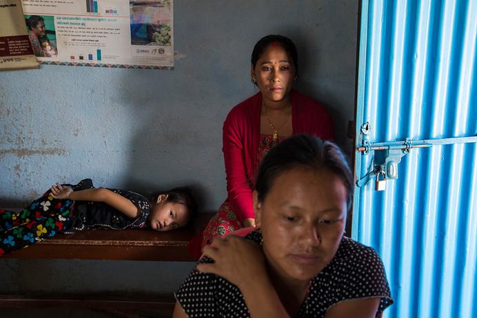 Beneficiary Samjhana Parajun at FPAN's Kapan Community Clinic, Kathmandu, Nepal, 2015.