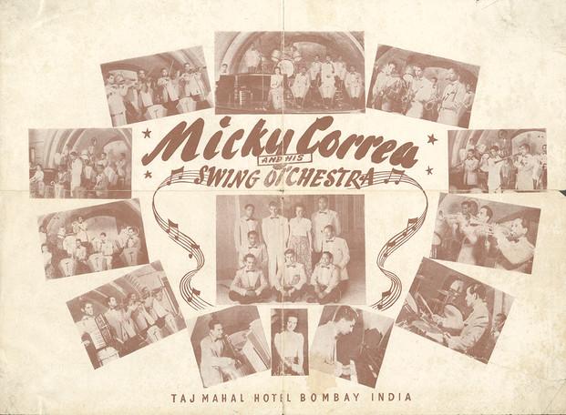 Leaflet for Micky Correa band.