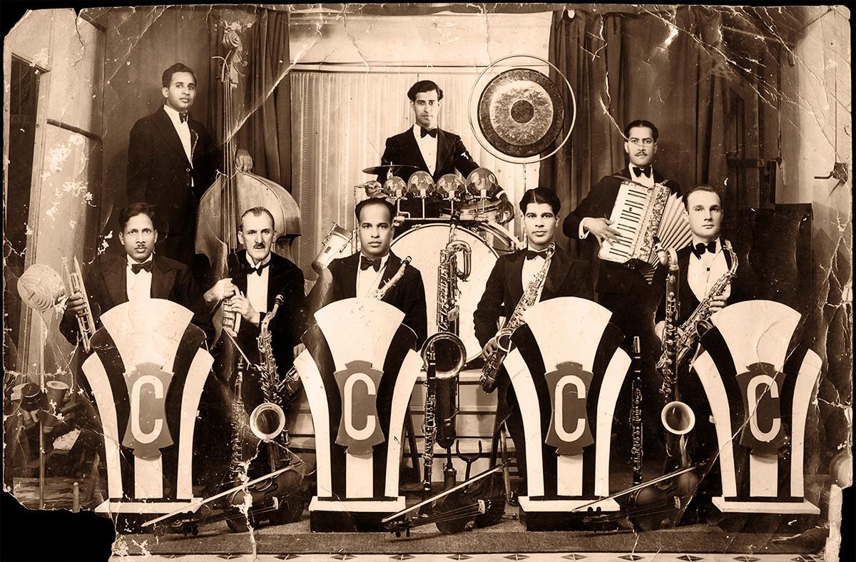 "Correas ""Optimists"" Band. Karachi, 1936."