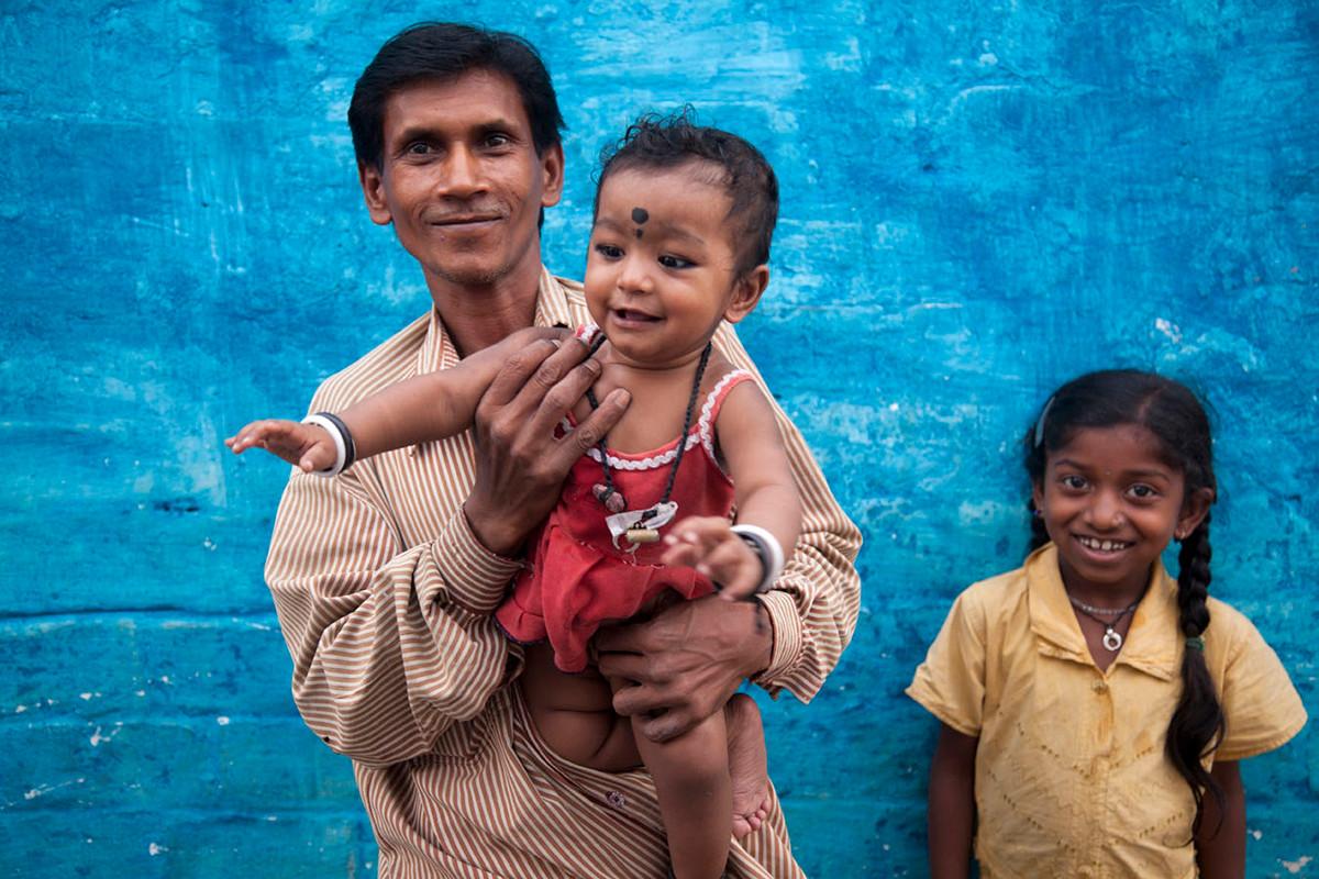Beneficiaries of Family Planning Association of India (FPAI) at the Durga Nagar Naka slum, Bhopal, Madhya Pradesh, India, 2012.