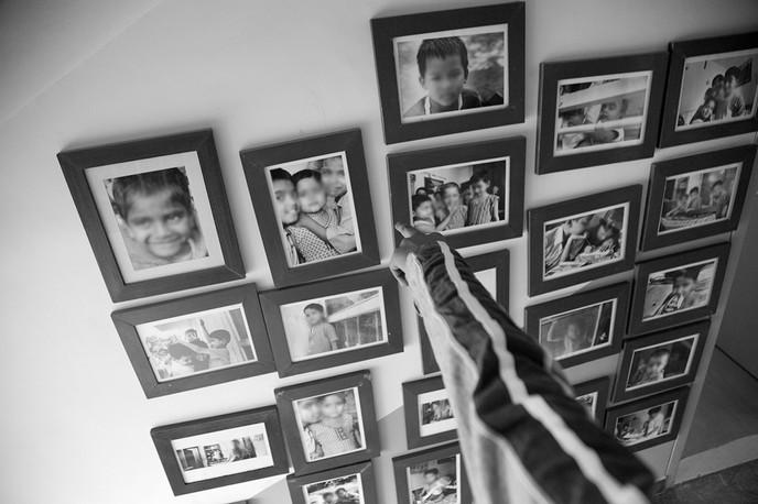 At the Naz Home for HIV+ children in New Delhi, 2008.