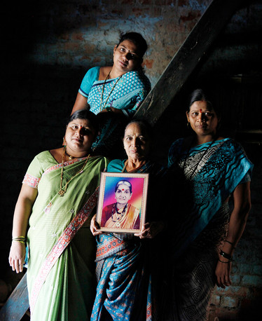 Three generations that have accessed services from FPAI, India. Photograph by Peter Caton