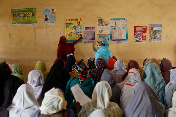 Polio Vaccinators are trained at the Kabuga Health Centre  in the Gwale LGA of Kano city, Nigeria, 2010.