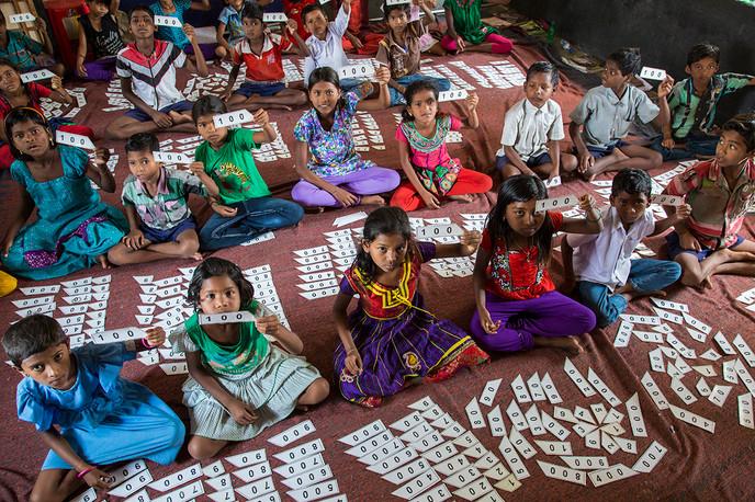 Nuapada District, Orissa, 2014: LEP class at Bhaludongri government school.