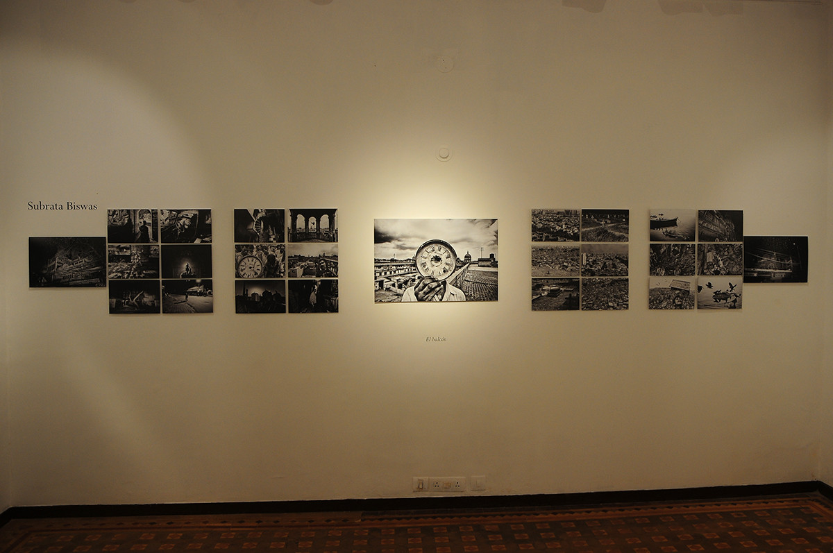 Installation view of 'Photo Poetry: Octavio Paz in India' curated by Jesus Clavero-Rodriguez