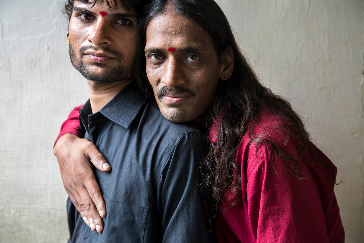 MSM community members of Badlav Samiti, under India HIV/AIDS Alliance's Pehchan program, at their DIC in Indore, Madhya Pradesh, India, 2014.