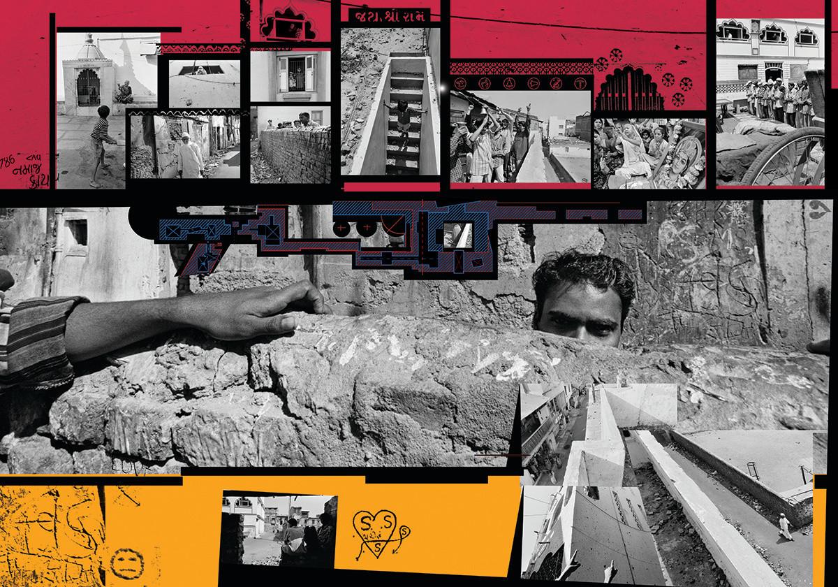 "The Wall - Ahmedabad 2002: Photo-montage and Graphics Prashant Panjiar & Itu Chaudhari   Edition: 5     Size: 40""x57"""