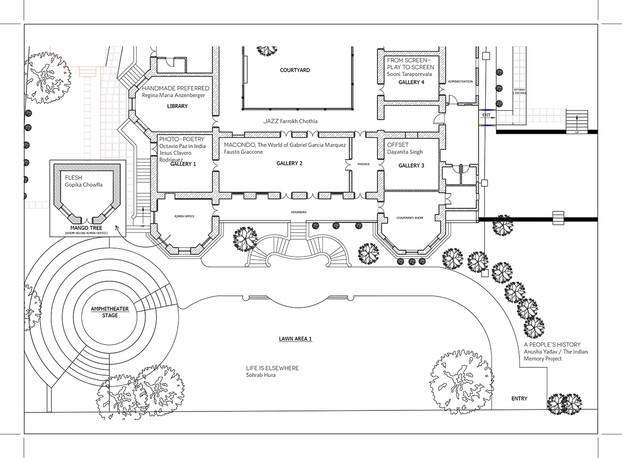 Floor plan for Sensorium 2014