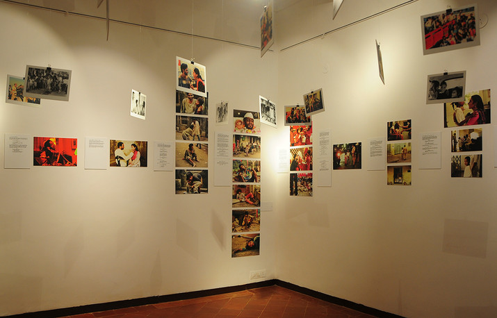 Installation view of 'From Screenplay to Screen, Salaam Bombay!' by Sooni Taraporevala