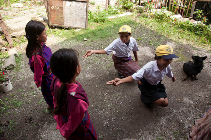 Children perform skits and dances to deliver health messages at Family Planning Association of India's (FPAI) Buxa Hill branch, Kalchini, West Bengal, 2012