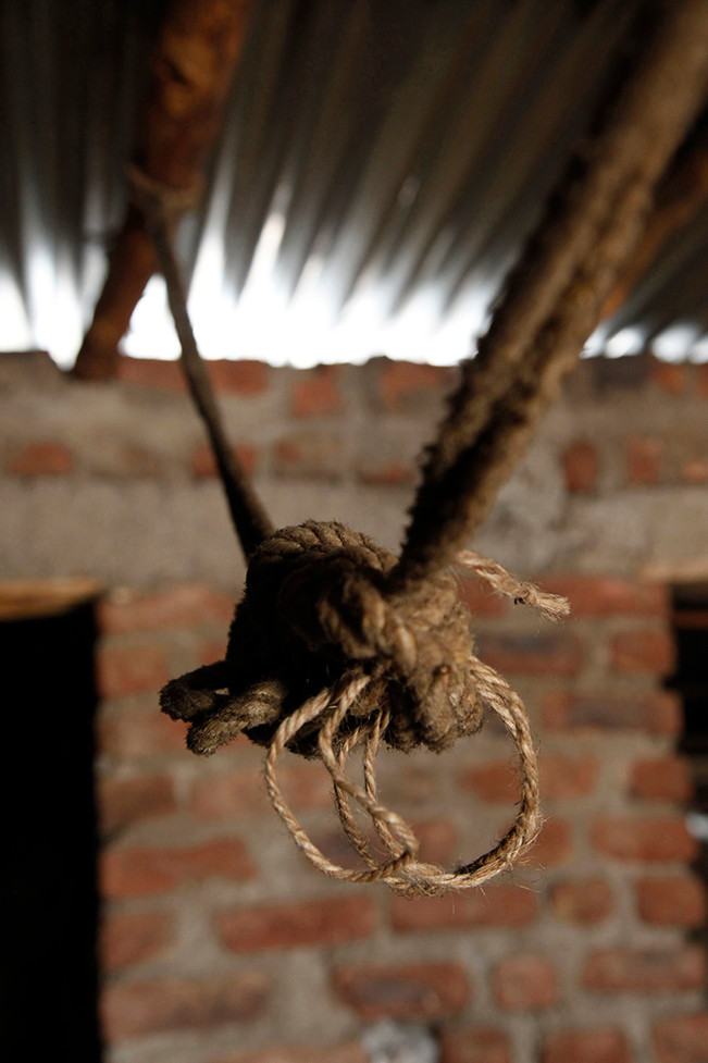 The room in his home where Laxman Tekam, a farmer from Mangi village, committed suicide by hanging himself.