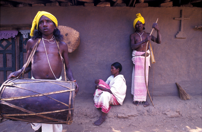 Munda tribe people, 1995.