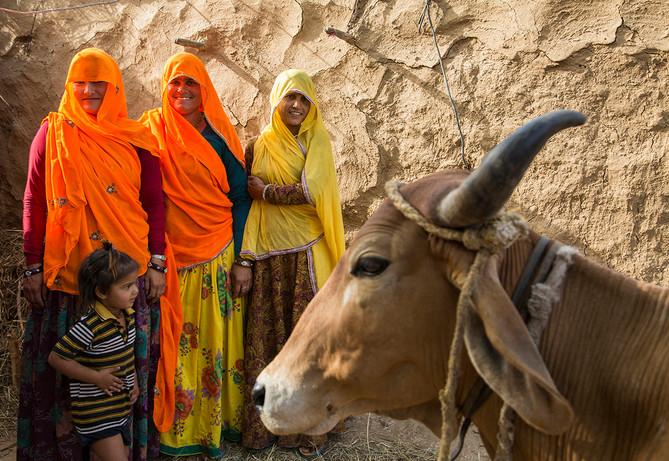 Marie Stopes India beneficiaries in Udaypurya village, near Jaipur, Rajasthan, India, 2015.