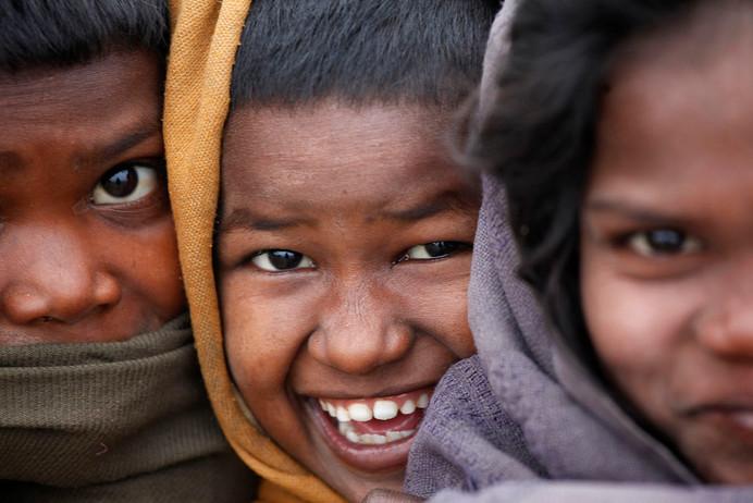 Children covered under the polio erradication program in the Kosi riverine area of Darbhanga district, Bihar, India, 2011.