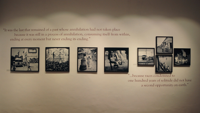 Installation view of 'Macondo – The World of Gabriel Garcia Marquez' by Fausto Giaccone