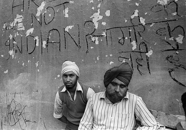 Delhi. 1984: Victims of the anti-Sikh riots that followed the assassination of Indira Gandhi.