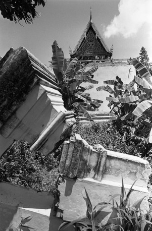Ruins of the Preah Than pagoda in Phnom Penh destroyed by the Khmer Rouge in 1975.