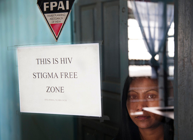 Family Planning Association of India (FPAI) Link Worker Renu Prasad at the old DIC which is planned to be converted to a youth centre in Kohima, Nagaland, India, 2012.