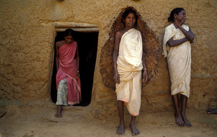 Birhor tribe people, 1995.
