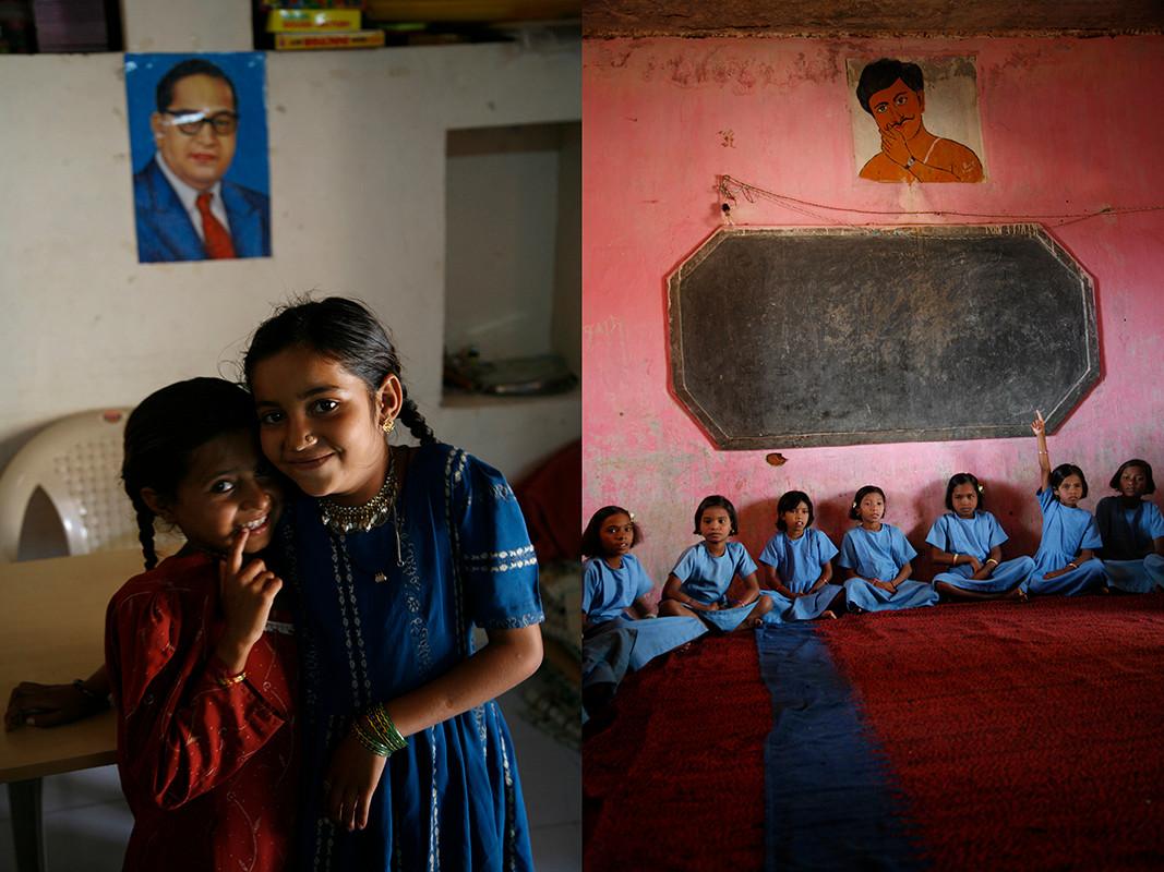 Kutch, Gujarat, 2006 & Bolangir, Orissa, 2006: Resident students, children of seasonal migrants at their Seasonal hostels.