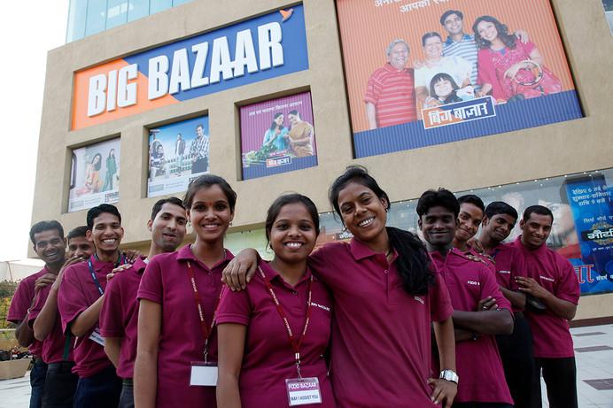 Alumni of  AIF's MAST program who now work for Big Bazaar in Patna, Bihar, India, 2011.
