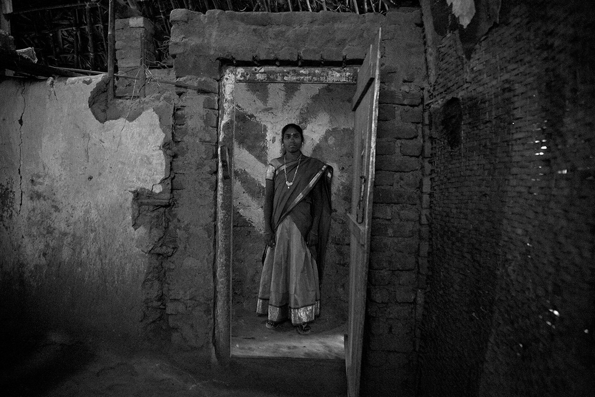 Laxmi, a young sex worker in the brothel where she works in the Dowleswaram locality of Rajamundhry, Andhra Pradesh, 2008.