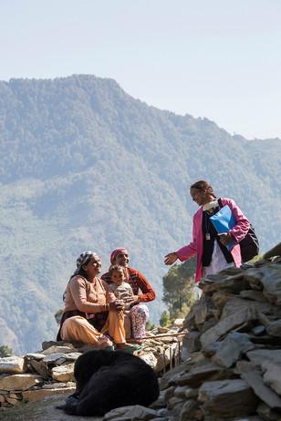 Trained under AIF's MANSI program, ASHA Usha Rana makes the rounds of her village Himrol in Uttarkashi district, Uttarakhand, India, 2017.