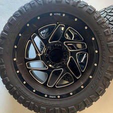 """22"""" KMC Wheels with Nitto Grappler Tires"""