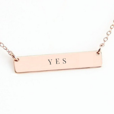 """Yes"" Bar Necklace"