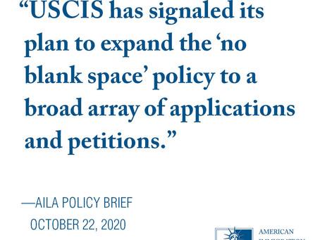 USCIS No Blank Policy