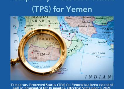 Temporary Protected Status (TPS) for Yemen